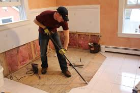 How to remove a tile floor and underlayment a concord carpenter how to  remove a tile