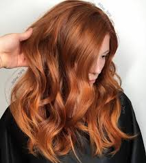 Balayage Ginger Hair Color Auburn To