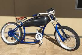 this is a custom built electric cruiser bicycle from australia