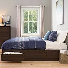 Amazon Espresso King Mate s Platform Storage Bed with 6