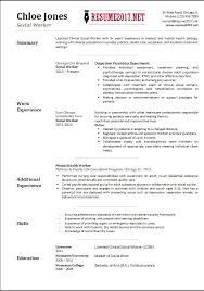 Example Of Social Work Resumes Brilliant Social Work Resume Template Federal Worker Writer