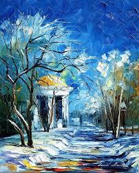 winter sun canvas print canvas art by leonid afremov