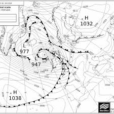 Synoptic Chart Of The Storm On 26 January 2014 At 12 00 Utc