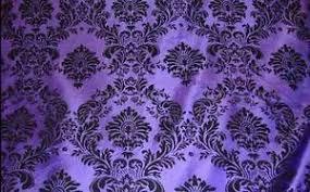 Details about <b>25 Yards</b> Purple <b>Black</b> Flocking Damask Taffeta <b>Velvet</b> ...