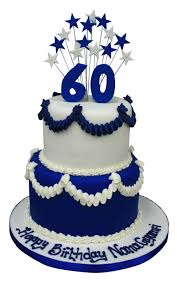 Tiered 60th Cake With Shooting Stars