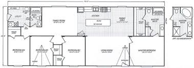 Wonderful 4 Bedroom Eagle Mobile Home Floor Plan