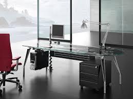 modern executive glass office desk