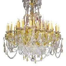 french large louis xv style gilt bronze and baccarat chandelier from the spelling manor for