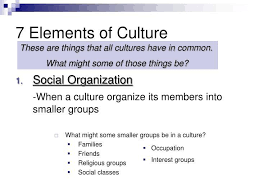 7 Elements Of Culture 7 Elements Of Culture Ppt 7 Elements Of Culture