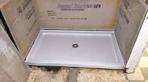 cement board shower pan