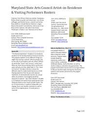 Arts In Residence Roster By Maryland State Arts Council Issuu