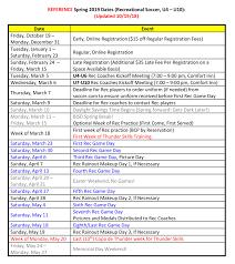 Soccer Rotation Chart Recreational League U4 U15