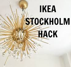 ikea lighting chandeliers. DIY Sputnik Lamp / Lámpa   Kicsi Ház Ikea Lighting Chandeliers S