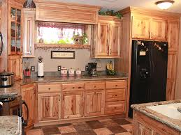Kitchen Large Kitchen Refrigerator With Rustic Kitchen Cabinets