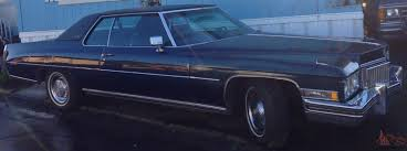 blue 1973 cadillac 2 door little old lady from beverly hills 86k garage find