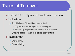 types of turnover exhibit 14 1 types of employee turnover voluntary