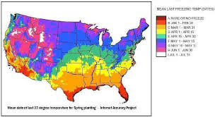 Freezing Temperature First And Last Date Of Freezing Temperatures And Annual U S