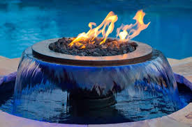 evolution 360 fire on water outdoor fire bowl with feature and bowls82