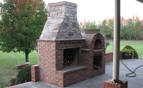 The Riley Family Wood-Fired DIY Brick Pizza Oven and Fireplace combo in  Kentucky -