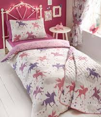 divine unicorn single bed duvet cover set