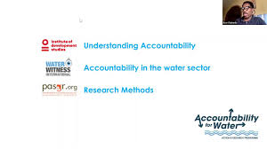 Accountability for Water Programme Launch: Rosie McGill (IDS) and ...