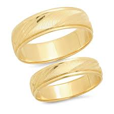 Sage Designs Los Angeles Sage Designs La 14k Solid Yellow Gold His Hers Matching Wedding Band Ring Set Laser Cut Choose A Size