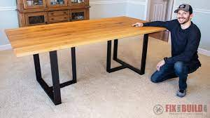 build a wood and metal dining table