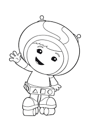 Coloring Page Team Umizoomi Geo Rollerskates Found On Kids N Fun