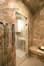 Walk In Tile Shower Master Bathroom Remodel By Renovisions Tile Shower Bench Seat