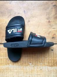 fila slides. fila slides / sandals flip flops black size 37 door technotraceys fila