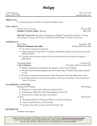 Sample Resume For Biology Internship Resume Ixiplay Free Resume