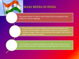 print media in  mass media