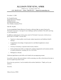 cover letter for human resources job executive resume cover letter examples