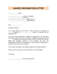 Resignation Letter Samples With Reason Best Resignation Letter For Personal Reasons Filename
