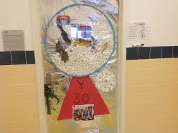 Holiday Door Decorating Contest Adventures In Speech At P373 Ps48 Ms Gias  Class Created A Penguin Scene