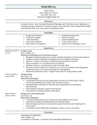 example of restaurant resume restaurant resume example sample for fast food bartender and free