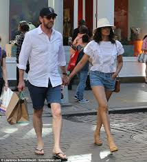 Padma Lakshmi dons denim shorts for lingerie shopping trip in New York with  baby daddy Adam Dell | Daily Mail Online