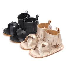 new roman style baby sandals gladiator girls tassel pu leather sandals hard sole prewalkers baby dress shoes kids girl shoes toddler boys dress shoes from