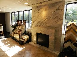 calcutta marble fireplace surrounds at herndon showroom