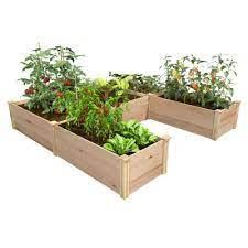 cedar raised garden beds garden