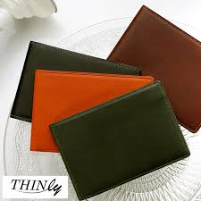 cowhide genuine leather leather billfold wallet thin thin