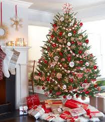 Red And White Themed Christmas Tree Part  42 Dwelling Decor Red Silver And White Christmas Tree