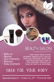 beauty salon flyer template postermywall