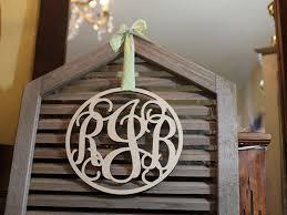 wooden vine monogram