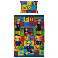 fireman sam bedding single double amp junior duvet