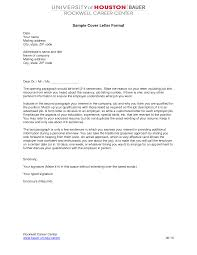 Formatting Cover Letter Format Of A Cover Letter How You Should Not
