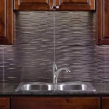 brushed nickel vinyl decorative wall tile backsplash 18 sq ft kit n65 29 the home depot