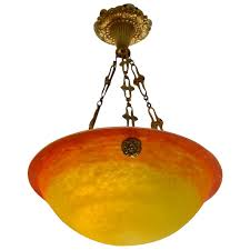 muller freres french art deco chandelier 1920
