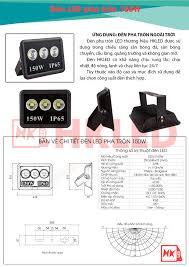 Đèn pha led ngoài trời 150W tròn IP65 - Thương hiệu HKled