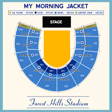 Forest Hills Seating Chart Explanatory Forest Hills Stadium Detailed Seating Chart